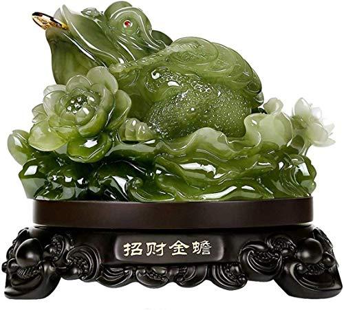 AISHANG Decoración Feng Shui Feng Shui Dinero Rana (Sapo de Dinero) Estatua Feng Shui Decoración Atraer Riqueza y decoración