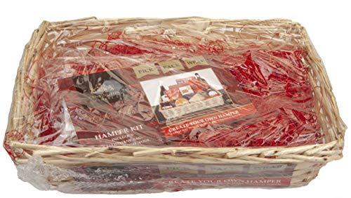 Kensington Create Your Own - Cestino Natalizio Grande con cellophane, riempimento e Fiocco, 44 cm