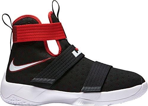 Nike Jungen Lebron Soldier 10 (GS) Basketballschuhe, Schwarz (Schwarz/Weiß-Universität Red), 36.5 EU