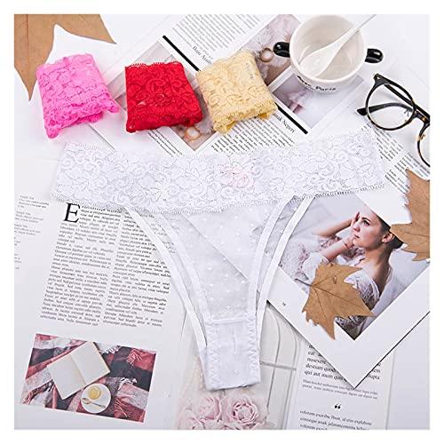 Tanga de algodón para mujer, ropa interior de encaje suave, lencería sexy de talle bajo, tanga, tanga, 1 pieza, color 1706bai, talla XXL