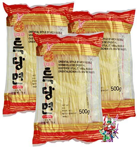 yoaxia ® - 3er Pack - [ 3x 500g ] EAGLOBE Süßkartoffel-Tapioka-Nudeln / Stärke Nudeln