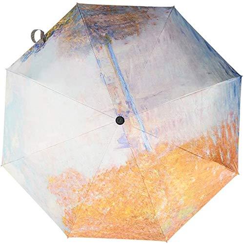 MJMJ sombrilla Paraguas UV De Protección Solar Ultralight, Plegable Interruptor Automático Paraguas A Prueba De Viento Paraguas Soleado