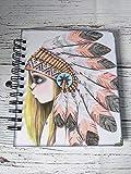 Cuaderno artesanal, ilustración de Emmanuelle Colin pintada a mano con acuarela, encuadernación de anillas