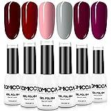 TOMICCA Gel Nagellack Set, 6 Farben UV LED Nagellack für Home Party Nagel Salon Nail Art 10ml