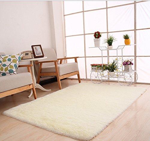 id/éal pour une salle /à manger ou une chambre beige Beige Demiawaking Tapis doux /à poils longs antid/érapant