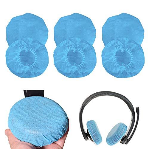 100 Pcs Kopfhörerabdeckungen Dehnbare Kopfhörerabdeckungen für die Meisten On Ear Kopfhörer mit 9 to 10,5 cm Ohrpolstern, Blau