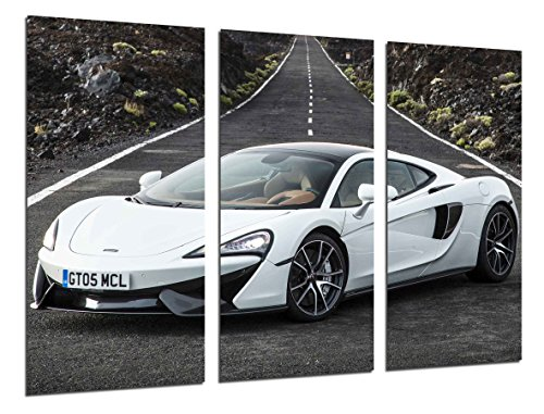 Poster Fotográfico Coche Deportivo, McLaren 570 GT, Blanco Tamaño total: 97 x 62 cm XXL