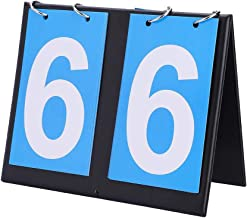 Sports Scoreboard, Portable Flip Scoreboard, Tabletop 2/3/4 Digit Score Counter Score Flipper for Football/Volleyball/Basketball/Table Tennis/Ping Pong