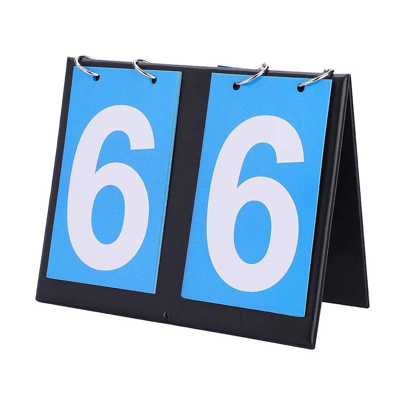 レイア適合するスキーム携帯式 得点板 卓上フリップスコアボード 2/3/4桁 ポータブルフリップスポーツスコアボード卓球用スコアキーパーバスケットボールフットボール野球
