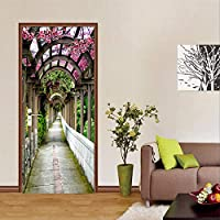 家の装飾デカール 3Dフラワーギャラリー壁壁画DiyドアステッカーPvc自己接着性防水家の装飾