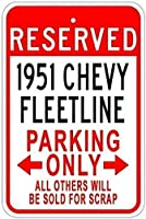 耐久性のある錆びの兆候1951 51 Fleetlineパーキングサイン、警告サインメタルプラークポスター鉄絵画アート装飾バーカフェ&キュートホテルオフィスベッドルームガーデン