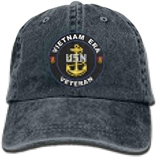 United States Navy Vietnam Era Veteran Dad Hat Adjustable Denim Hat Classic Baseball Cap