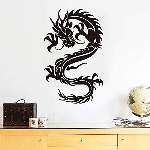 sanzangtang Chinese stijl huisdecoratie draak muur sticker lijm verwijderbare PVC materiaal ontwerp woonkamer muur decal