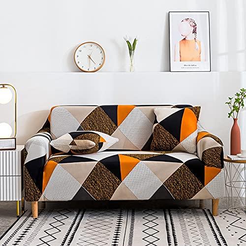 MKQB Funda de sofá elástica Estampada, Funda de sofá de Esquina en Forma de L...