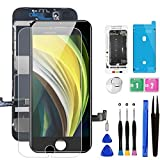 for iPhone 8/SE 2020 [ 2nd Generation ] Screen Replacement Black 4.7 inch, Bsz4uov LCD Display Touch Screen Digitizer, Waterproof Frame Adhesive Sticker+Repair Tool Kit