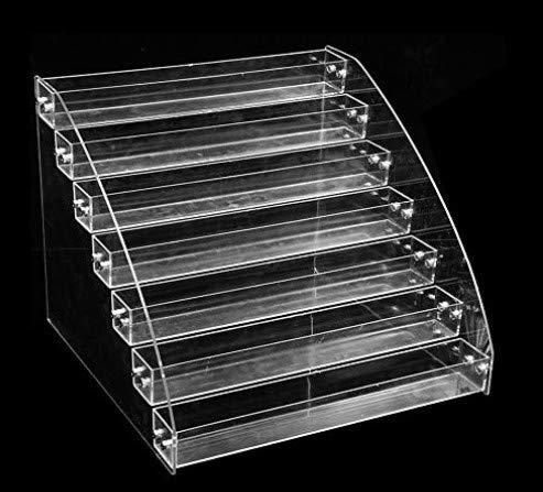 Small dimple Support en Plastique Transparent 7 Niveaux Contenant de Vernis à Ongles Support de présentoir de Stockage détagère de Maquillage détient 84 Bouteilles