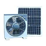 PK Green Ventilador Solar 12V con Panel Solar 20W...