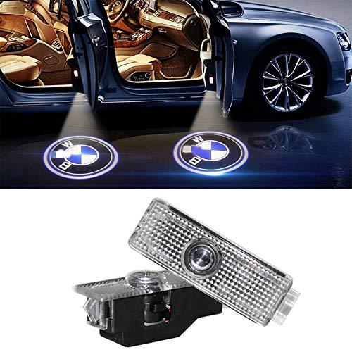 Willkommenslampe, KVCH 1 Paar LED-Deckenleuchten Einfache Installation Autotür Laser Projektor Logo Geister Schatten Beleuchtung für alte 3 5 6 7 Z M3 M5 GT Serie mit Türpolsterentferner