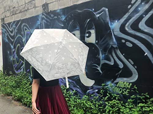 Sotia折りたたみ傘レディース晴雨兼用日傘かわいい花柄模様軽量208gコンパクト紫外線遮蔽率99%おしゃれUVカット99%プレゼントギフト収納ポーチ付(ホワイト花)
