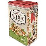 Nostalgic-Art Lata de café retro Home & Country – Nut Mix – Idea de regalo para los fanáticos nostálgicos, lata con tapa de aroma, diseño vintage, 1,3 l