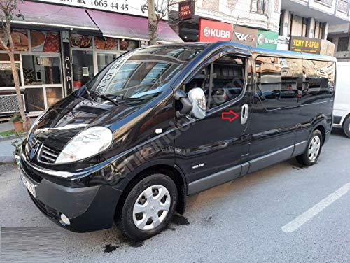 Para Vivaro/Trafic Primastar 2001-2014 manija de puerta cromo + cubierta de llanta 4 puertas acero inoxidable 8 piezas