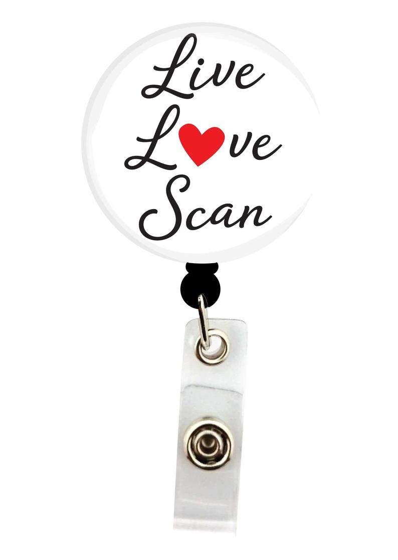 Interchangeable Badge Reel - Sonographer Love Albuquerque Mall Live Button Memphis Mall Scan w