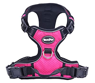 EXPAWLORER Best No-Pull Dog Harness. 3M Reflective Outdoor Adventure Pet Vest with Handle with 5 Colors
