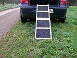 Easy-Hopper Hunderampe Standard Natur mit Rasenbelag