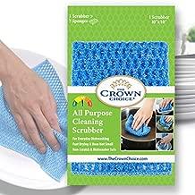 No Odor Kitchen Scrubber Dish Scrub Cloth (1PK) - Dishwashing Sponge Alternative - Strong All Purpose Mesh Scrubbing Cloths Dishcloth - MADE IN KOREA