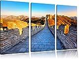 Große chinesische Mauer bei Sonnenaufgang 3-Teiler