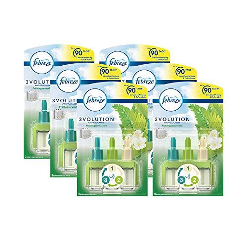 Febreze 3volution Lufterfrischer, elektrische Stecker-Nachfüllung, Frühlingserwachen, 6 Stück, 20 ml