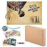 ZUNTO Album Fotografico Fai da Te, Our Adventure Book Scrapbook Album Foto(19x30cm, 80 Pagine), Forbici,...