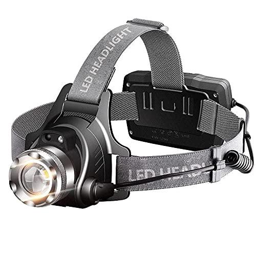 Alta potencia faro resplandor recargable montado en la cabeza inducción de largo alcance al aire libre hogar led noche pesca minero lámpara linterna