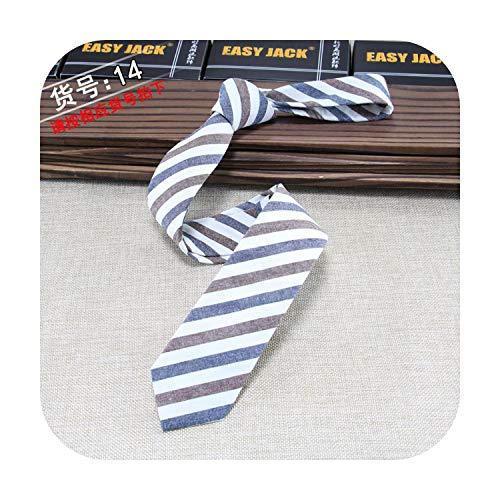 cravatta Mens Cravatta Versione Stretta Di Cotone E Lino Cravatta Maschio 6Cm Di Usura Formale Affari Casual Lavoro Professionale Controllo Regalo del