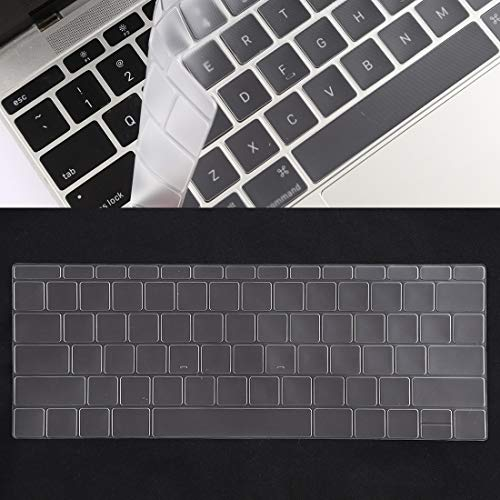 ZHENGNING Protective Case Keyboard Protector Silica Gel Film for MacBook Retina 12 / Pro 13 (A1534 / A1708) Smartphone Slim Cover Shell (Color : Transparent)