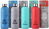 Chilly Willy Botella de Agua   Aislamiento al Vacío Doble Pared   Botella Reutilizable de Acero Inoxidable 500ml   Aislado (Control de Temperatura)   A Prueba DE DERRAMES   SOSTENIBLE (Verde Pastel)