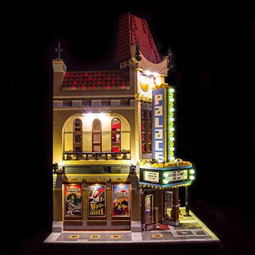 DOSGO Licht-Set Für Cinema Street View Modell - LED Beleuchtung Light Kit Kompatibel Mit Lego 10232 (Modell Nicht Enthalten)