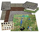 Ultimate Battle Grid Game Board - Dry Erase Square & Hex RPG Miniatures Mat - Tabletop Role-Playing Dice Map - Portable Reusable Dragons Gaming Dungeon