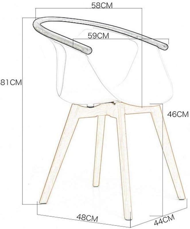 Chaise de salle à manger Chaise de salle à manger cuisine de petit déjeuner en bois massif café moderne avec siège en dossier PP (Color : Black) Red