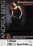 leonatica Andrea Berg, Emotionen hautnah, Konzertplakat