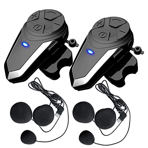 Buy 2 x BT-S3 Motorcycle Intercom Bluetooth Helmet Headset Communication Systems Kit, QSPORTPEAK Sup...