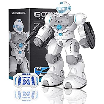 Masefu RC Robot Gift Larger Robot Toy for Kid Programmable Gesture Sensing Fighting Robot USB Charging Tech Dance Sing Walk Shoot Robot with Light Music Birthday Present for Boys Girls 4+ Years