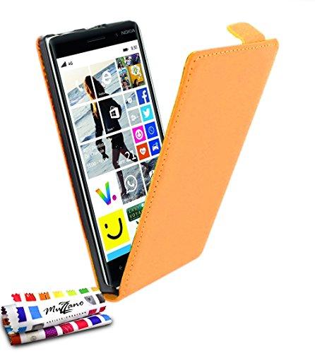 MUZZANO Custodia Open Flip - con Chiusura, per Nokia Lumia 830