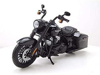 Maisto 532336de Harley Davidson Road King Special: originalgetreues Motocicleta Modelo 1: 12, lenkbare Tenedor, beweglicher Caballete Lateral, 20cm Negro