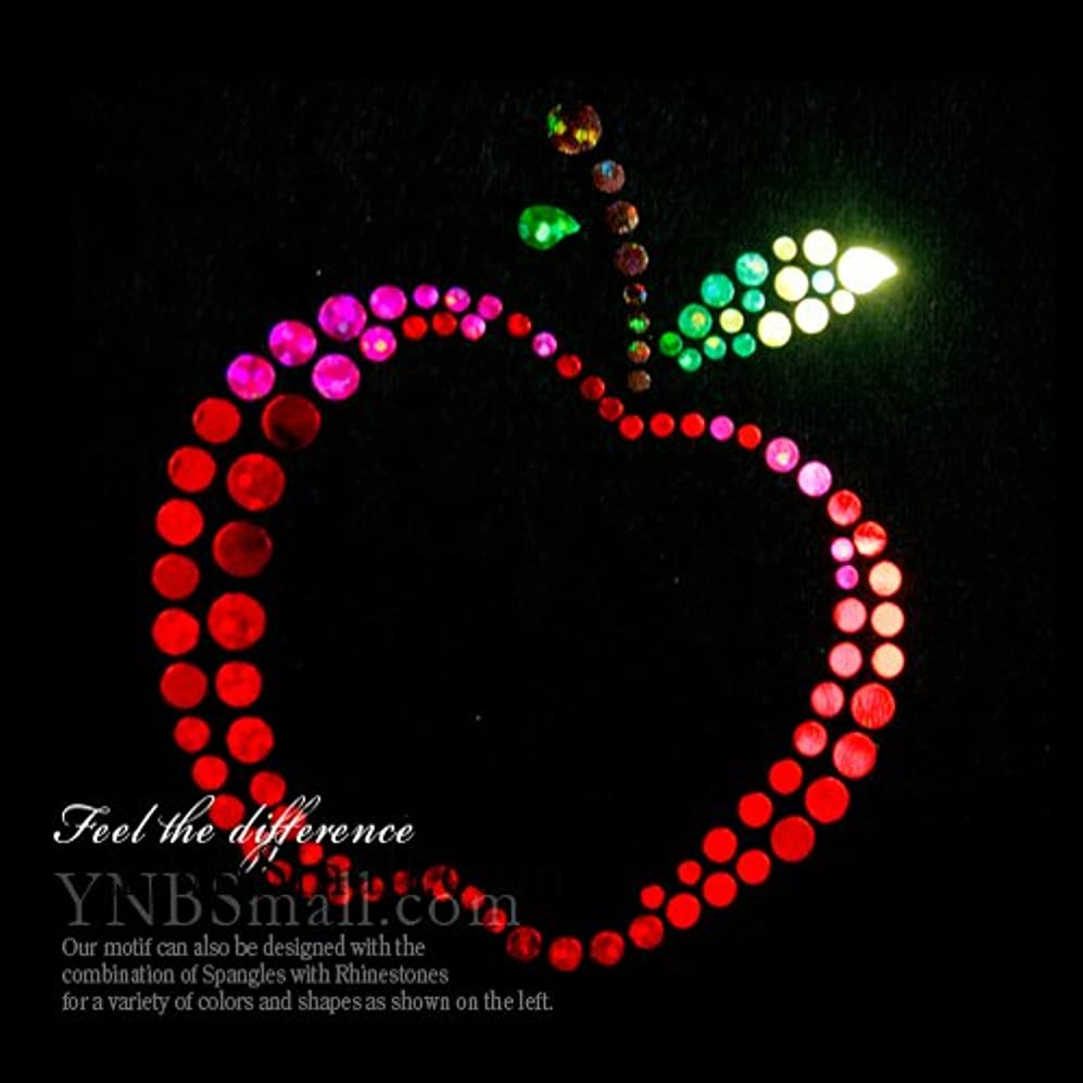 グローバル解き明かすホラー【スパングル】ラインストーン&スパングル モチーフ ホットフィックス りんご