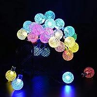 フェアリーライトストリングライト Lyfs 4 / 6M 20/30 Ledソーラー電球ストリングライト屋外防水装飾フェアリーライト用クリスマスツリーのウェディングパーティーの装飾、暖かい白、6M 30Led