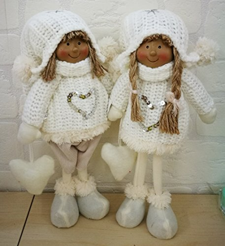 Subito disponibile Pupazzo natale natalizio con cappello bianco in piedi