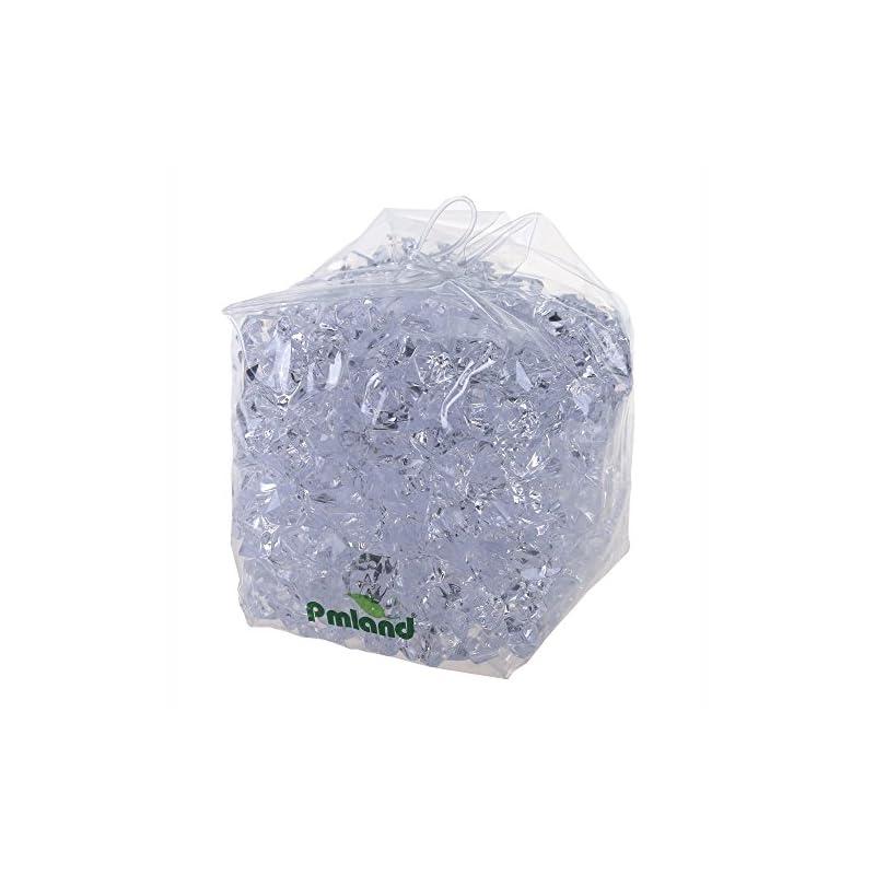 silk flower arrangements pmland clear acrylic ice rocks crystals gems - 1 inch length 3 lbs bulk bag for vase filler table scatter party wedding arts crafts decoration display idea