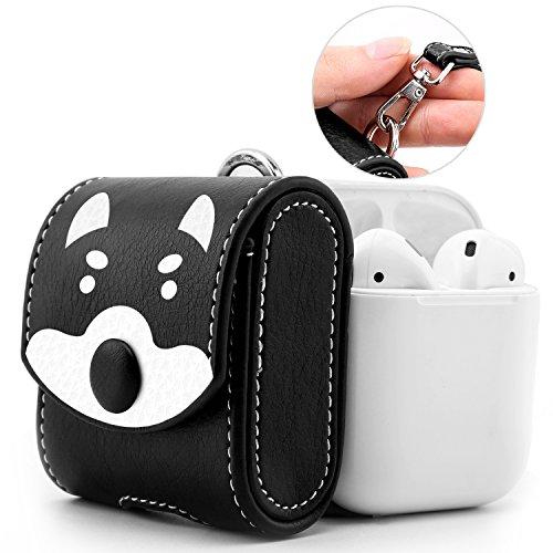MoKo Kompatibel mit AirPods 1 Kopfhöhrer Tasche, Portable Tragetasche Reisetasche Schutzbox Schutzhülle Hülle Schutztasche mit Handschlaufe & Reißverschluss für AirPods Ladekoffer, H&