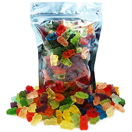 Gummi Bears Candy, Fruit Flavors Gummies, Allergy Friendly, Non-GMO, No Artificial Sweeteners Gummy (12 Assorted Gummies, 10oz Bag)
